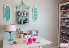 Atta Girl Says   Home Office and Craft Room Makeover   http://www.attagirlsays.com