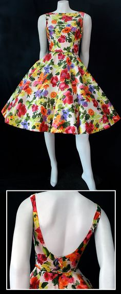 ~vintage 50s dress~  Quote: if women wore dresses like this I think the world would be a happier place. How can you help but smile?