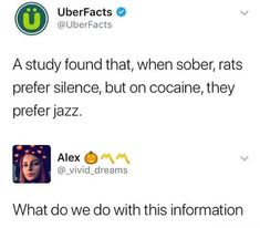 Well actually... thinking of when cocaine was out in Coca-Cola and was sold in American pharmacy... right around the time jazz kicked up and women's liberation began.. than ope all of a sudden drugs are bad except alcohol, cancer sticks, and coffee. Sugar too, that shits more addicting than cocaine I hear...