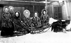 Sisters depart the Nome mission, 1918 by Providence Archives, Seattle, via Flickr