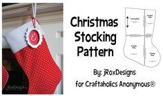 Free Christmas stocking pattern #christmas #sewing #pattern