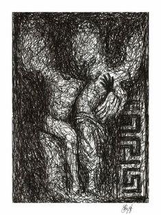 Satyr and nymph DOWNLOADABLE PRINT Original drawing | Etsy Original Paintings, Satyr, Wallpaper, Sign Art, Drawings, Nymph, Original Drawing, Downloadable Print, Original Art