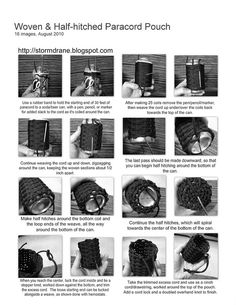 woven and half hitched paracord pouch instruction sheet by Stormdrane, via Flickr