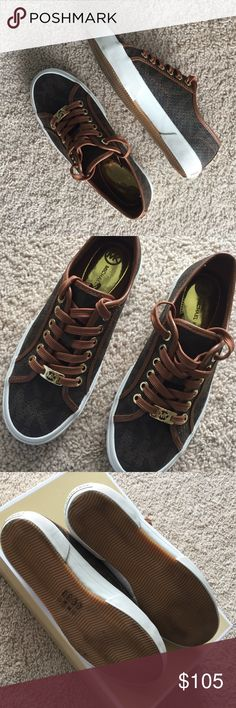 Brown Michael Kors sneakers💞 Like new ...authentic ...size 6.5 💕no flaws💞thanks for stopping by💕all my prices are negotiable 💕 amazing discounts when you bundle... just ask 💕have an amazing day 😘happy poshing 🎈🎉🎈🎈 Michael Kors Shoes Sneakers