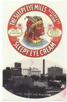 Sleepy Eye Mills Flour/Sleepy Eye Cream Sleepy Eye Minnesota Postcard