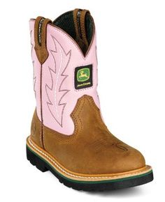 JOHN DEER PINK BOOTS---Brooklyn would love these!
