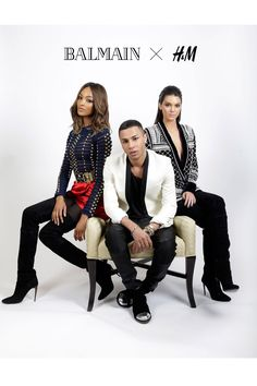 Balmain For H&M Confirmed - Enlisting the help of two of his famous fans, Jourdan Dunn and Kendall Jenner, the designer announced the collaboration at last night's Billboard Music Awards in Las Vegas - with both models arriving on his arm, wearing designs from the collection.