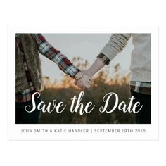 Save The Date Photo Postcards - unusual diy cyo customize special gift idea personalize