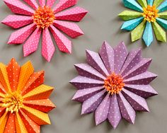Paper flower tutorial simple paper crafts paper flower tutorial diy paper flower party decorations fiskars mightylinksfo