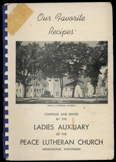 Feather Nutmeg Cake, Fruit Cake, Gold Angel Food Cake - Ladies Auxiliary Of The Peace Lutheran Church, c1955  http://www.amazon.com/gp/product/B01N5VG1G7/ref=cm_sw_r_tw_myi?m=A3FJDCC1SFO8CE