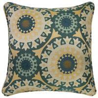"20"" x 20"" Pillow in Turquoise Garden Wheel"
