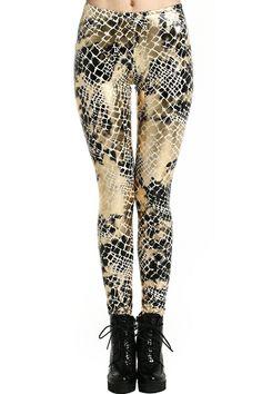 Snake Print Leggings #Romwe