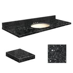 Transolid Notte Black Quartz Undermount Single Sink Bathroom Vanity To