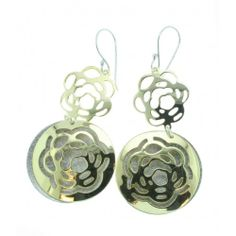 Jon Black Jewellery Sterling Silver Flower Drop Earrings With Mixed Mirror And Brushed Finishes Price: £77.00  Availability: 1