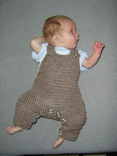 Mauv is Crafty: Crochet baby overalls - free pattern! *Plan to use this pattern as a base to re-create the sock monkey overalls I have pinned on my sock monkey board.