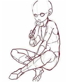 Drawing Base, Manga Drawing, Figure Drawing, Anatomy Drawing, Body Reference Drawing, Anime Poses Reference, Sitting Pose Reference, Hand Reference, Body Drawing