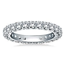 Classic Prong Set Round Diamond Eternity Ring in 18K White Gold (1.20 - 1.40 cttw.) http://balori.com/pins/979