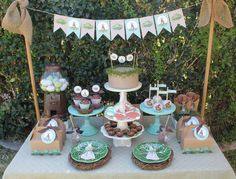 Gorgeous display at a vintage Easter party! See more party ideas at CatchMyParty.com!
