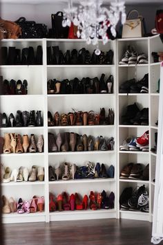 I want to have a gazillion shoes taking up a whole wall of my closet, organized by style and color.  And most of them will be heels.