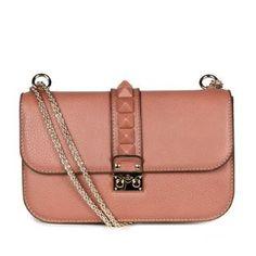 Valentino Glam Lock Studded Leather Bag   CRUISE