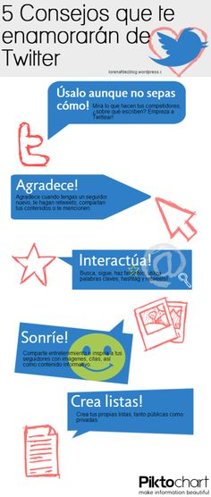 5 consejos que te enamorarán de Twitter #infografia #infographic #socialmedia