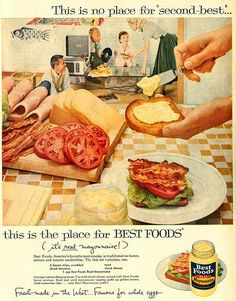 Best Foods Mayonnaise Ad 1958