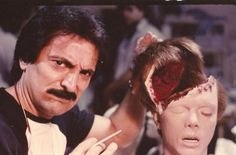 Special FX Master Tom Savini on the set of The Texas Chainsaw Massacre Horror Icons, Horror Art, Tom Savini, Texas Chainsaw Massacre, Horror Makeup, Classic Horror Movies, Famous Monsters, Vintage Horror, Scary Movies