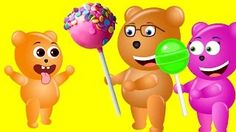 Mega Gummy Bear Cake Pop Screaming Finger Family Nursey Rhymes For KIDS Children - YouTube