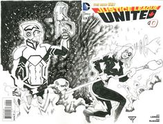 Justice League United Blank Cover - Adam Strange & Stargirl by Guillomcool