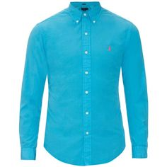 Polo Ralph Lauren Button-cuff cotton and silk-blend shirt ($83) ❤ liked on Polyvore featuring men's fashion, men's clothing, men's shirts, men's casual shirts, polo ralph lauren mens shirts, mens shirts and mens summer shirts