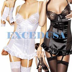 XS-3XL garters+teddies+G-string+stocking sexy lingerie love sex toys dress#287