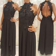 #new #abito lungo nero #valeria #abbigliamento