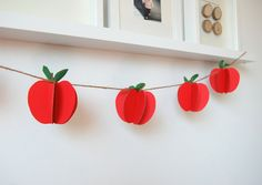 diy apple garland