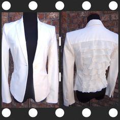 ‼️️SALE‼️BCBG Ruffled Jacket. New. Unique jacket with a ruffled back and pockets. New item. BCBGMaxAzria Jackets & Coats