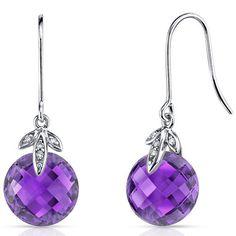 14 kt White Gold 6.50 Carats Amethyst Diamond Earrings E18778