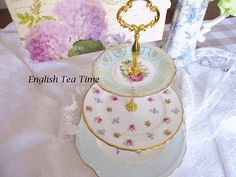 Vintage 3 tier english tea stand from mis-matched english