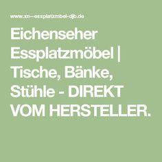 Eichenseher Essplatzmöbel   Tische, Bänke, Stühle - DIREKT VOM HERSTELLER. Math, Tables, Food, Dinner Room, Math Resources, Early Math, Mathematics