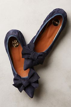 Highbow Suede Skimmers #anthrofave #anthropologie