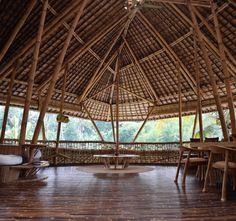 2.7.16 - In Bali, Bamboo Architecture Offers Model for a Sustainable Future - BALI, Indonesia—How do you build a future out of grass? On the Indonesian island of Bali, one organization has set out to do just that. Ibuku, an architecture and furniture design firm based outsid…