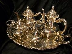 Sterling Silver 925 German Tea Coffee Set Service 68.5 oz not including tray | eBay