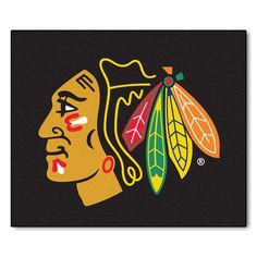 "FANMATS NHL - Chicago Blackhawks Doormat Rug Size: 2'10"" x 3'8.5"""