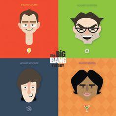 Art print of Big Bang Theory-Faces **