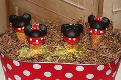 Mom's Killer Cakes & Cookies Original Design Girl and Boy Mouse Ice Cream Cone Cake Pops