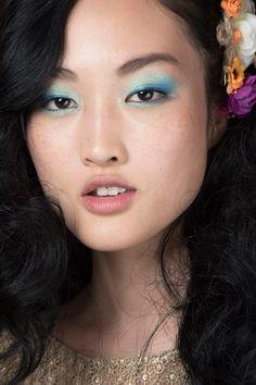 Diane von Furstenberg - Jewel-tooned blue-green eyeshadow with plenty of mascara