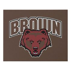 Brown Bear Logo Faux Canvas Print #videos #shop #animals hockey nhl, ice hockey, hockey diy, dried orange slices, yule decorations, scandinavian christmas Youth Hockey, Hockey Mom, Ice Hockey, Quotes Girlfriend, Hockey Posters, Lacrosse Quotes, Rangers Hockey, Hockey Gifts, Yule Decorations