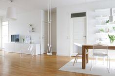 vaalea sisustus,skandinaavinen modernismi (50-60 luku),valoisa,valkoinen,puu