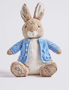 Luxury Peter Rabbit Soft Toy - White - One Size Peter Rabbit Toys, Peter Rabbit Nursery, Easter Gifts For Kids, Christmas Gifts For Her, Toys For Girls, Girl Toys, Baby Gifts, Teddy Bear, Accessories