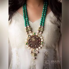 Bring out the vintage charm with this semi-precious long neckpiece. Get it before it's gone, only at Joules by Radhika. #JoulesByRadhika #Jewellery #Necklace #MakeAStatement #Neckpiece #VintageCharm #StatementNecklace #Beads #SemiPrecious #Luxurious #DesignerJewellery #IndianDesigner #Instalike #Instalove #Mumbai #India