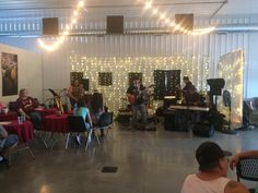 Band playing at harvest party