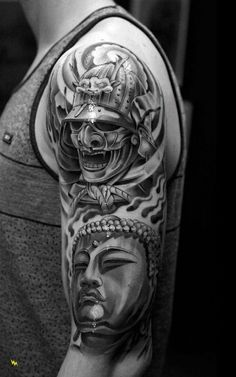 Get to witness the most amazing samurai tattoos design 2019 here. We have the most splendid art styles that will tell you all the samurai tattoo meaning as well as the samurai tattoo back,arm, and even your leg. Juncha Tattoo, Bad Tattoos, Great Tattoos, Future Tattoos, Body Art Tattoos, Sleeve Tattoos, Tatoos, Japan Design, Samourai Tattoo